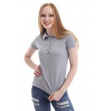 Kadın Polo Yaka T-shirt Gri