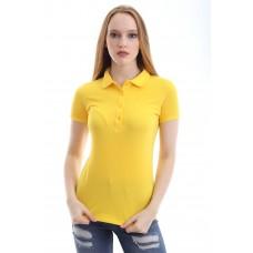 Kadın Polo Yaka T-shirt Sarı
