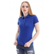 Kadın Polo Yaka T-shirt Mavi