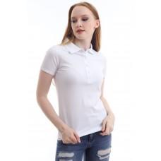Kadın Polo Yaka T-shirt Beyaz