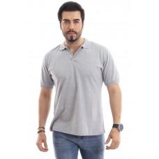 Erkek Polo Yaka T-shirt Gri