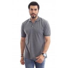 Erkek Polo Yaka T-shirt Koyu Gri
